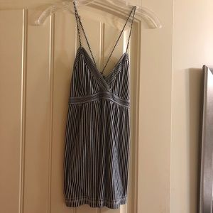 American Eagle Striped Babydoll Tank, Size: S